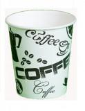 Стакан картонный одинарный под горячие напитки Черный Кофе, 200 мл, 50 шт./уп.