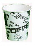 Стакан картонный одинарный под горячие напитки Черный Кофе, 350 мл (50шт в упаковке)