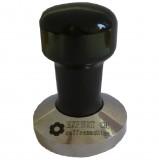 Темпер EXPERT CM (Эксперт СМ) стальной, с деревянной ручкой черного цвета, основание 53 мм