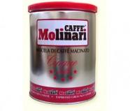 Кофе молотый Molinari Cinque Stelle (Молинари пять звезд), (250г), упаковка - жестяная банка